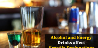 Alcohol and Energy Drinks affect Erectile Dysfunction